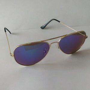 Shades golden mirrow aviator style sunglasses